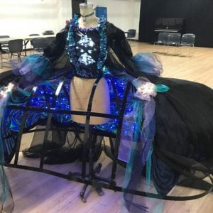 Queen of the Night: Opera cage LED gown