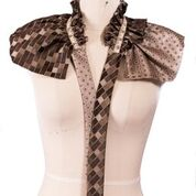 Tie and Measuring Tape embellished collar