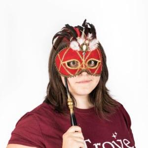 Red Venetian masquerade mask