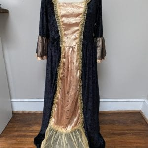 Black and gold Renaissance Gown