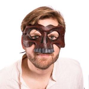 Red leather skeleton mask