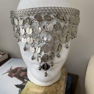 Belly dancer coin veil