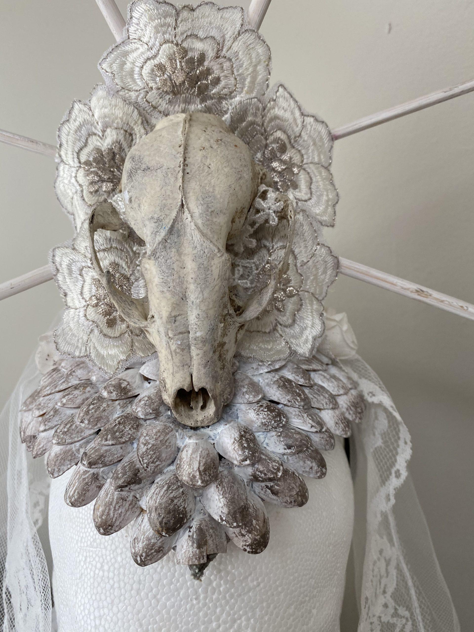 Animal skull veil headdress