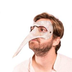 White plague mask