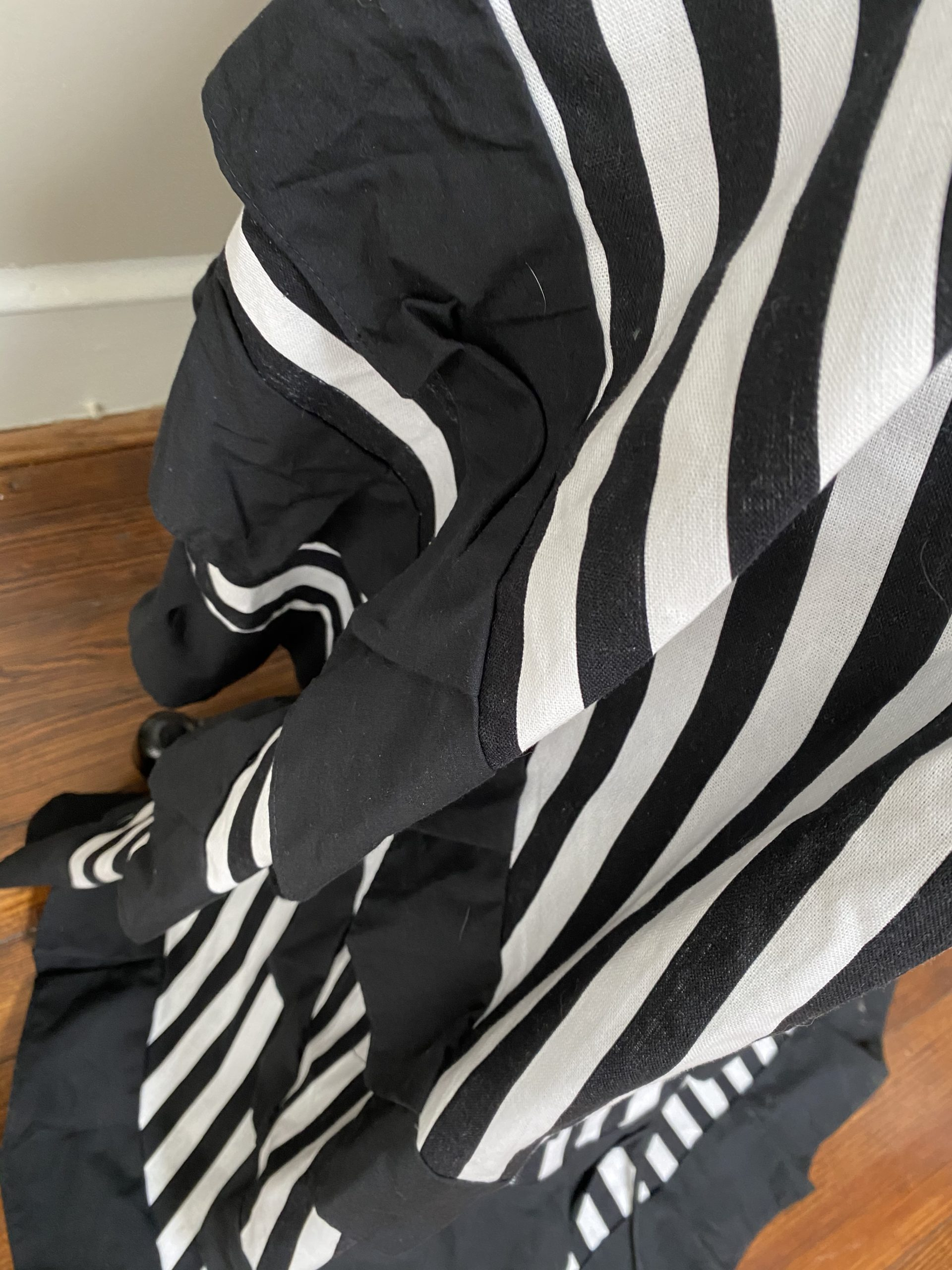 Black and White Striped Victorian skirt