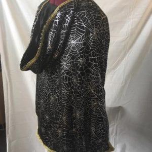 Black spiderweb cape