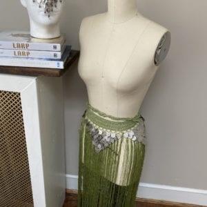 Belly dancer fringe skirt belt