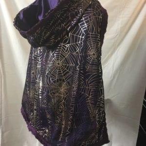 Purple spider web cape