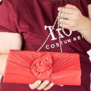 Red vintage clutch purse