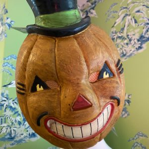 Vintage-style pumpkin mask