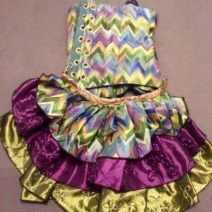 Mermaid Zigzag/Purple/Green Ruffle (Damsel in this Dress)