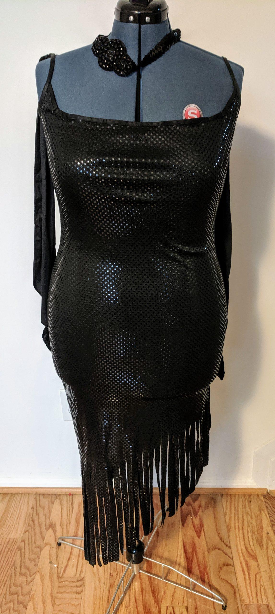 Black Sequin Flapper Dress (L)