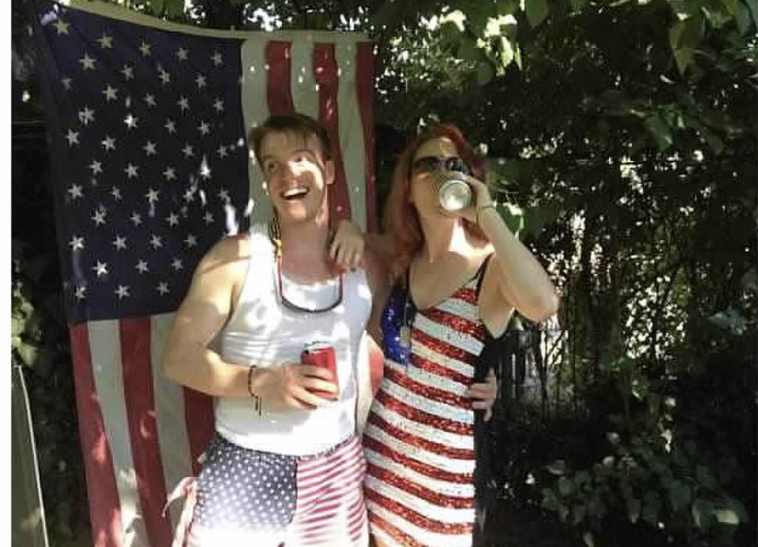 American Flag Sequin Dress