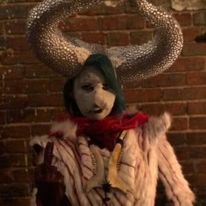 Silver rhinestone satyr horns