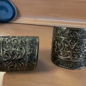 Cuff bracelets with scrollwork