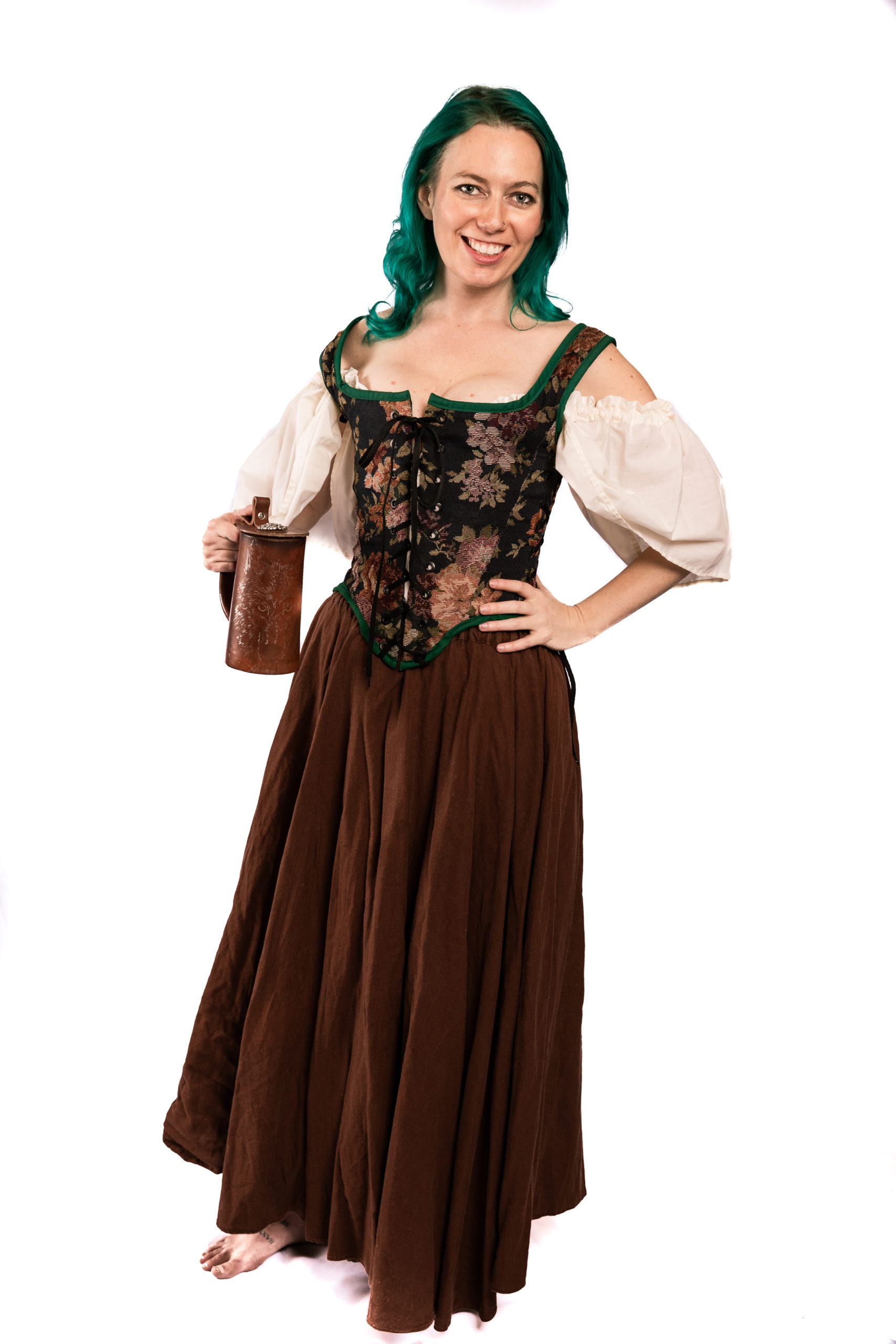 reverse-able bodice: green and leaf