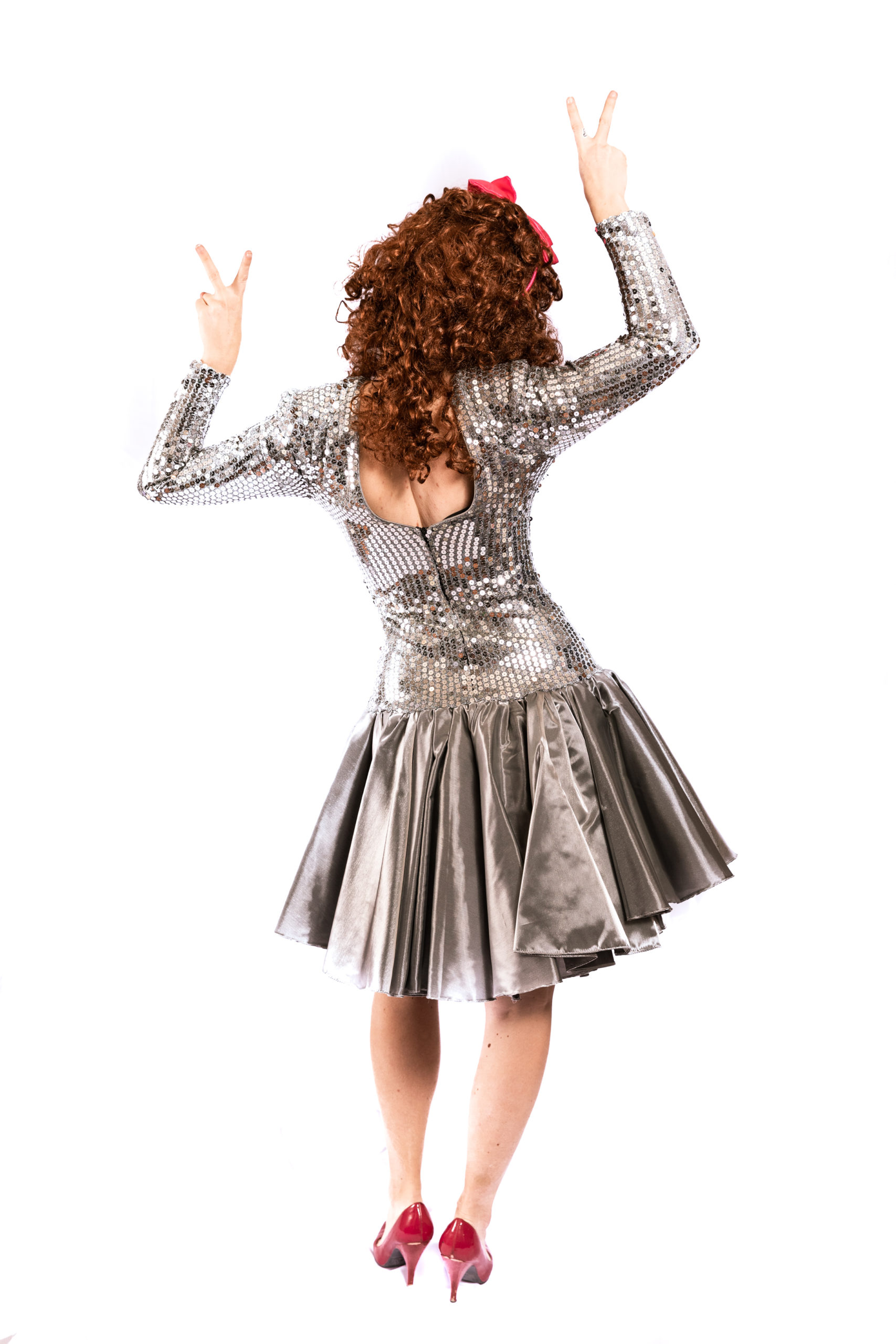 80's Silver Sequin Dress