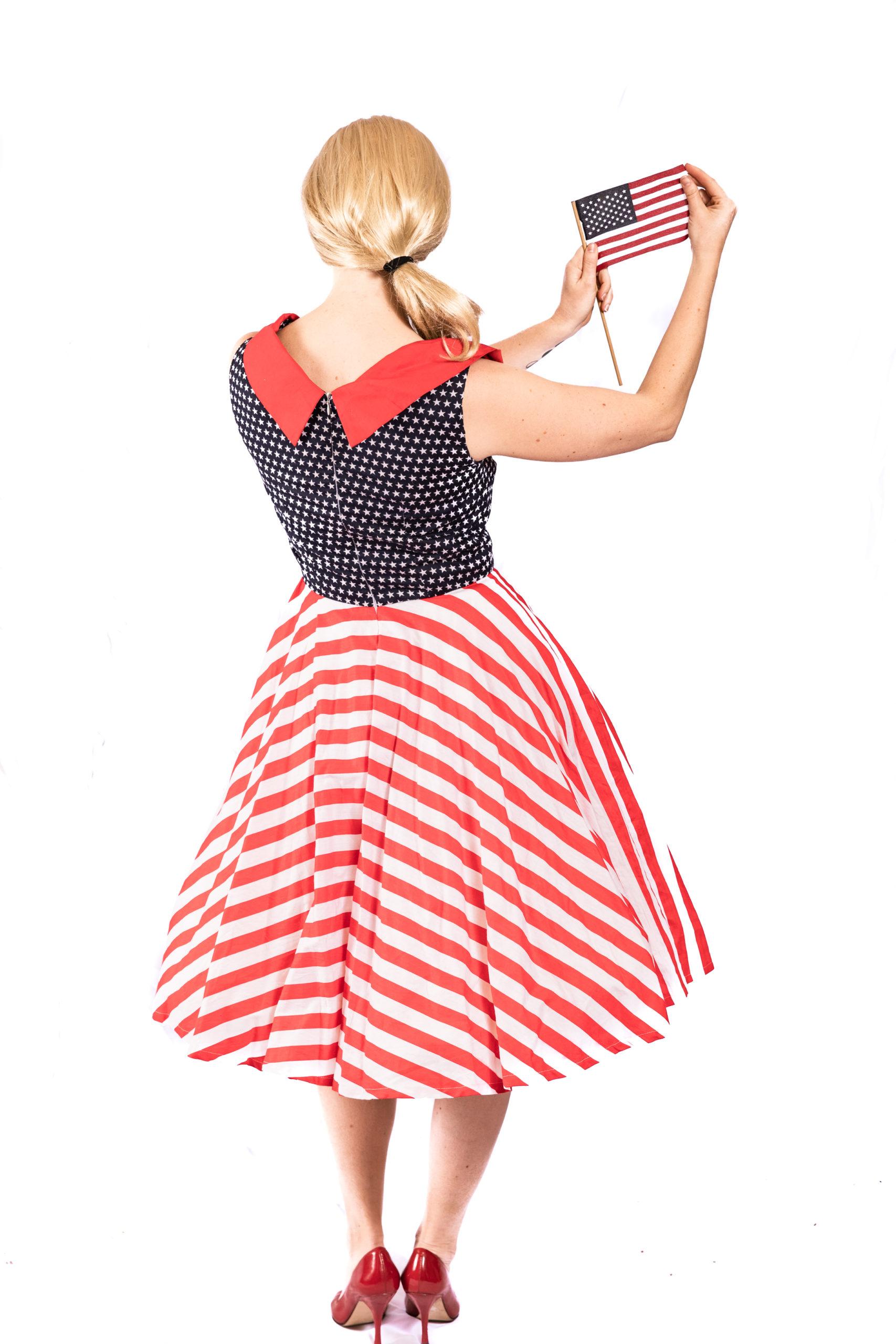 American Flag 1950's dress