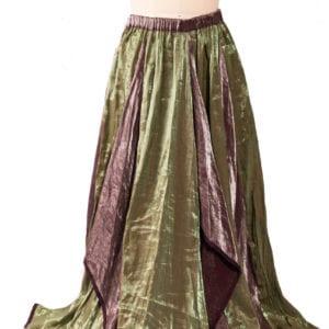Green and purple skirt
