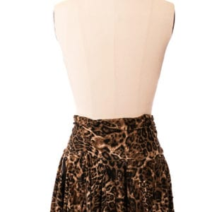 Leopard Print barbarian skirt