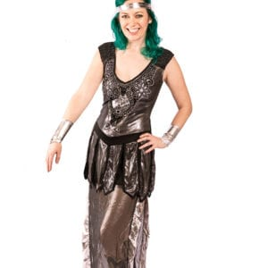 Black and Silver Ancient Goddess costume