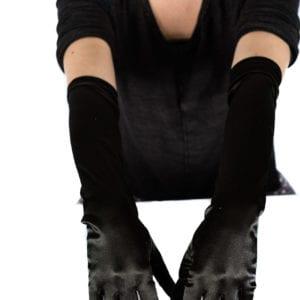 Black long gloves: multiple styles/types