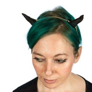 black clay horns