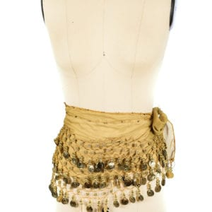 Gold Coin Sash Belt