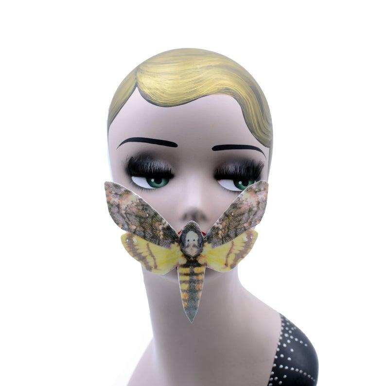 Deaths Head Moth Face Mask